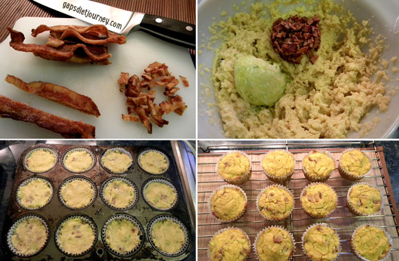 These grain-free Bacon Muffins are also dairy-free, sugar-free, paleo, and GAPS diet compliant. They make a terrific portable meal as they also include not one, but two veggies as well! [featured on GlutenFreeEasily.com] (photo)