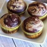 Chocolate Banana Swirl Muffins