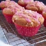 """Starter"" Muffins with Pretty Pink Glaze"