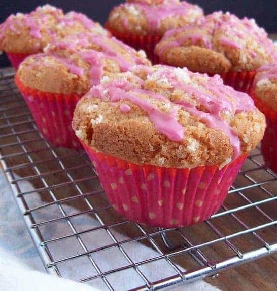 Starter Muffins (with Pretty Pink Glaze) from Free Range Cookies