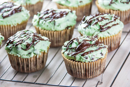 Mint Chocolate Chip Brownie Cupcakes from Tasty Eats At Home
