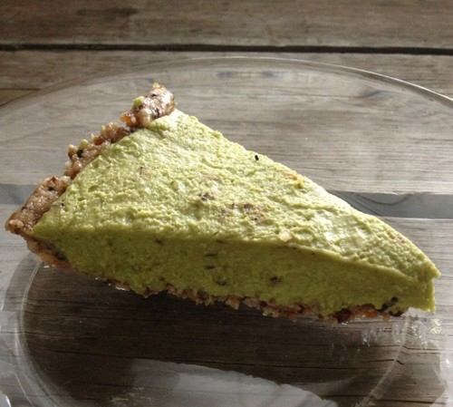 Raw Mint Chocolate Chip Pie from In Johnna's Kitchen