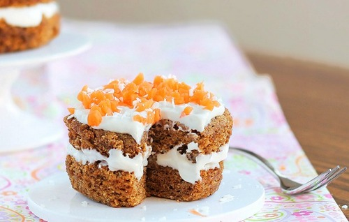 5-Minute Carrot Cake from Chocolate-Covered Katie