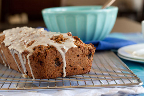 Carrot Cake Loaf with Cream Cheese Icing from Healthful Pursuit
