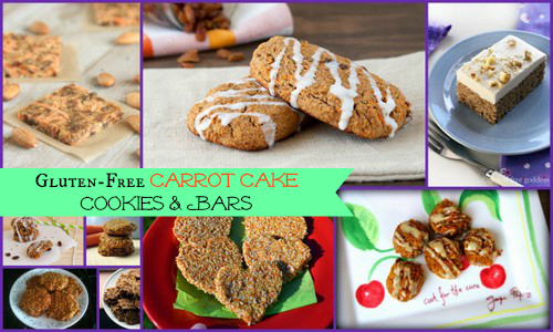 Gluten-Free Carrot Cake Cookies and Bars Featured on AllGlutenFreeDesserts.com
