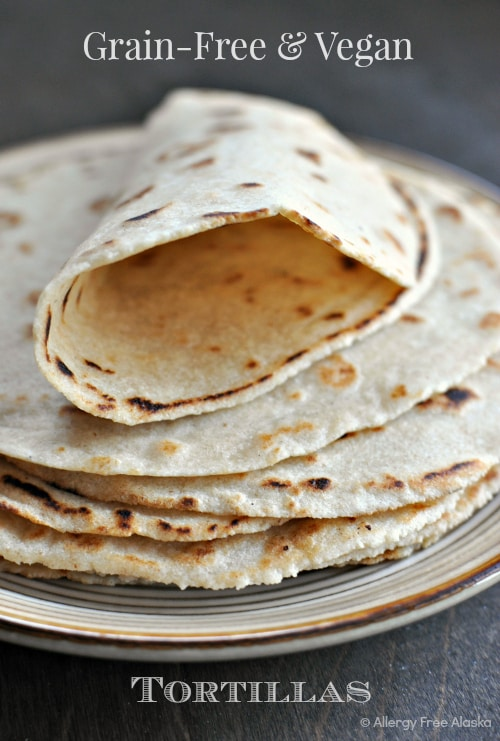 Grain Free and Vegan Soft Tortillas from Allergy Free Alaska