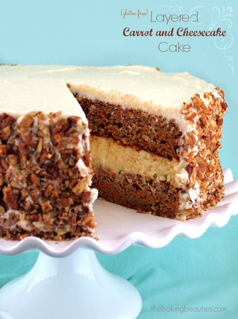 Layered Carrot and Cheesecake Cake from The Baking Beauties