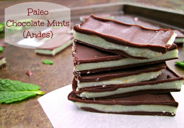 "Paleo Chocolate Mints ""Copy Cat Andes Mints"" from Livin' the Crunchy Life"