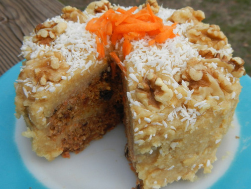 Raw Gluten-Free Carrot Cake from Betty Rawker