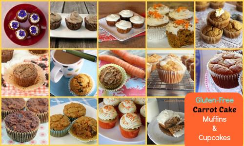 Some Gluten-Free Carrot Cake Cupcakes & Muffins Featured on AllGlutenFreeDesserts.com