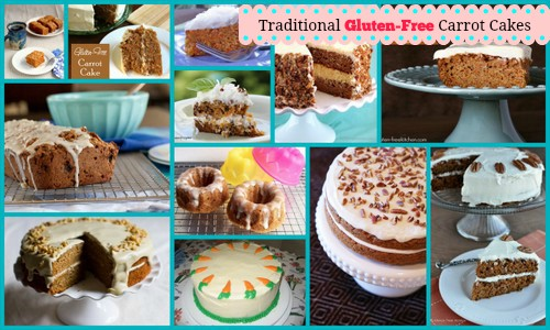 Some of the Gluten-Free Carrot Cake Desserts Featured on AllGlutenFreeDesserts.com