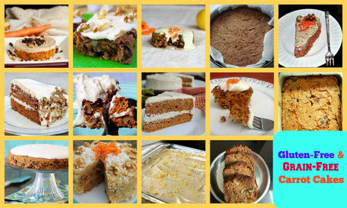 Some of the Grain-Free Carrot Cakes Featured on AllGlutenFreeDesserts.com