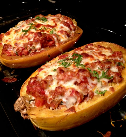 Stuffed Spaghetti Squash: Lasagna Style from Celiac in the City