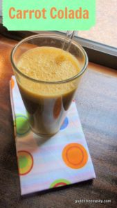 This Carrot Colada is a delicious and healthy way to start your day! [from GlutenFreeEasily.com]
