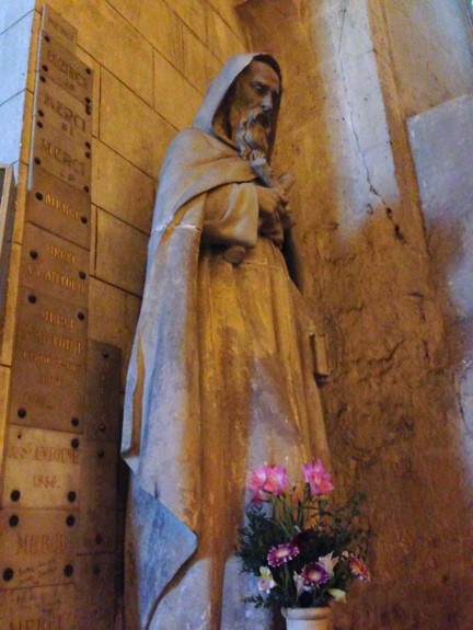 Church Statue in Angouleme France