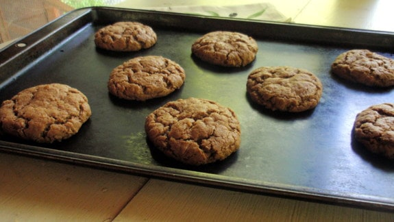 Paleo Disappearing Mounds Cookies on Baking Sheet Gluten Free Easily