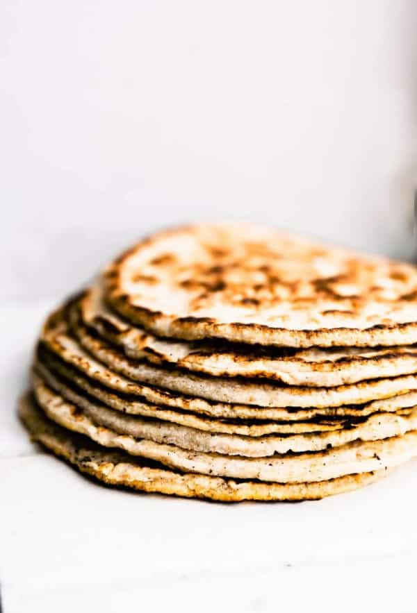 Coconut Flour Tortillas. One of 30 of the best gluten-free tortilla recipes and gluten-free wrap recipes.