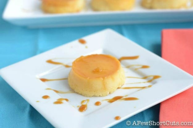 Gluten-Free Flan Cheesecakes. One of several delicious last-minute gluten-free Cinco de Mayo desserts. [featured on GlutenFreeEasily.com]