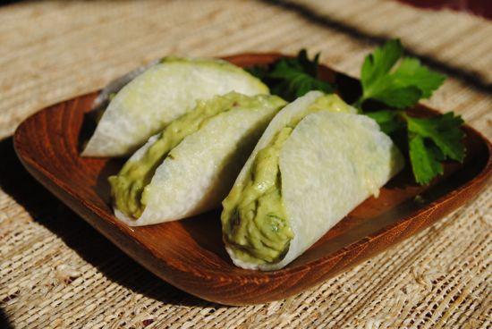 Grain-Free Jicama Tortillas/Tacos from The Whole Gang