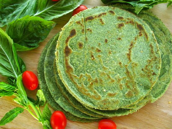 Grain-Free Spinach Tortillas from Brittany Angell