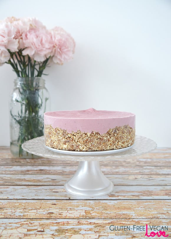 Raw Strawberry Cheesecake Gluten-Free Vegan Love