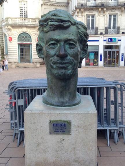 Statue of Creator of TinTin Jarnac France