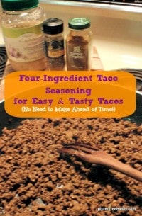 Four-Ingredient Easy and Tasty Tacos Gluten Free Easily