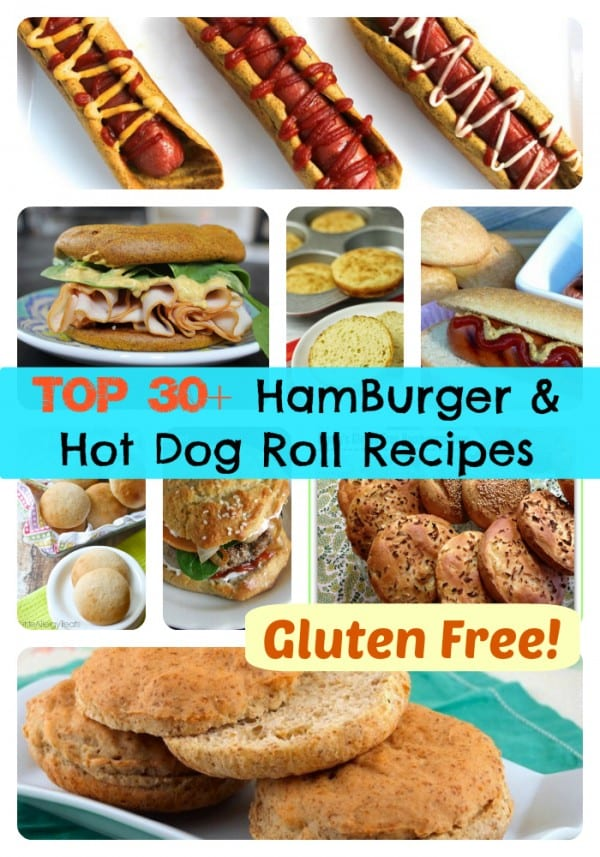 Gluten-Free Hamburger Roll and Hot Dog Recipes Collage