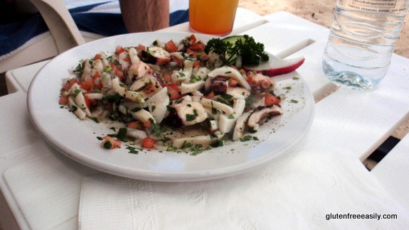 Mixed Seafood (Conch, Octopus, Shrimp, Squid) Ceviche at Nachi Cocom Cozumel