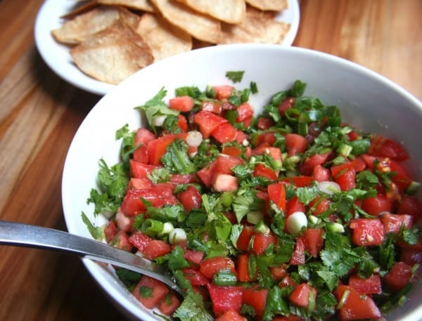 Pico De Gallo and Oven-Baked Tortilla Chips The Non-Dairy Queen