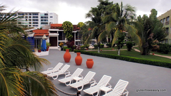 View of Grounds, Cabanas, and Building Outside Resort, Casa del Mar, Cozumel