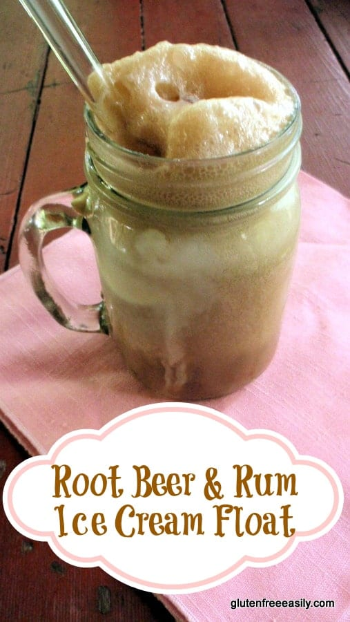 Root Beer and Rum Ice Cream Float Gluten Free Easily
