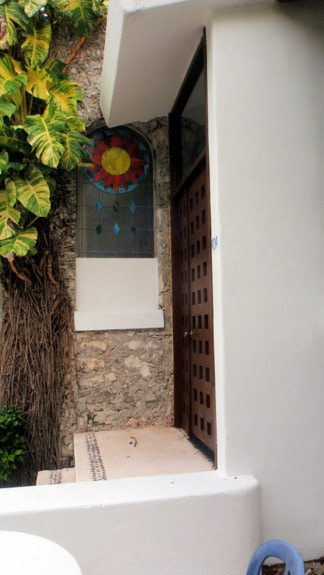Stained Glass Window on Upper Floor Cabana Casa del Mar