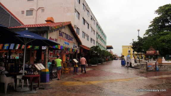 View of Cozumel Square from Left