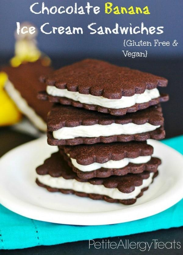 Gluten-Free Chocolate Banana Ice Cream Sandwiches