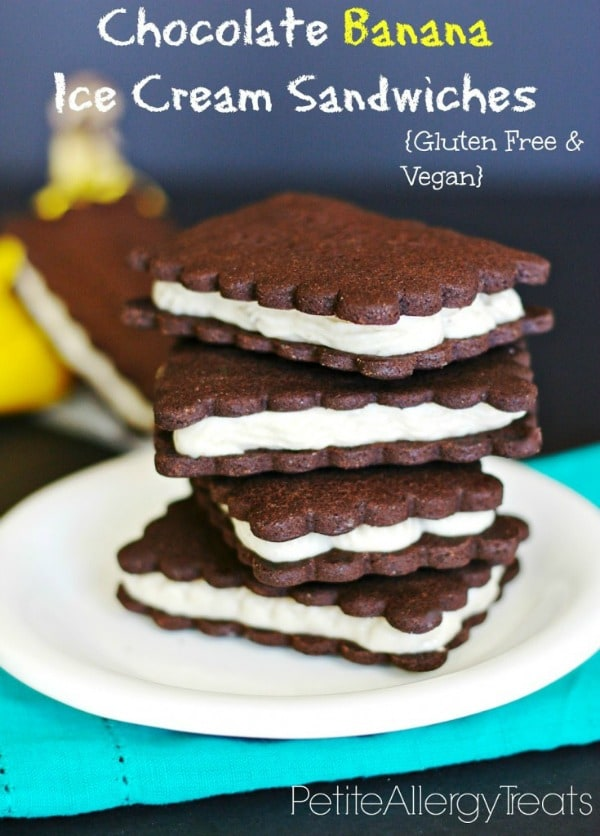 Gluten-Free Chocolate Banana Ice Cream Sandwiches