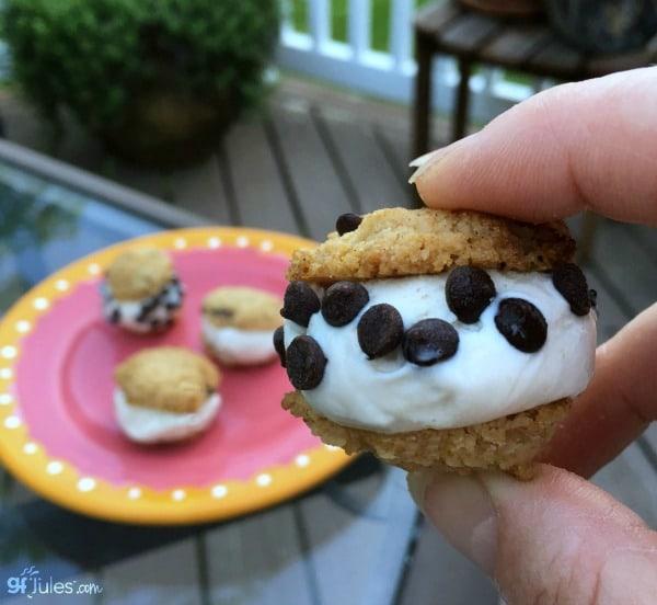 Gluten-Free Mini Chocolate Chip Ice Cream Sandwiches GF Jules