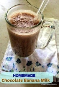 Homemade Chocolate Banana Milk Gluten Free Easily