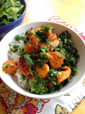 Honey Sriracha Chicken Bowl ChaCha's Gluten-Free Kitchen