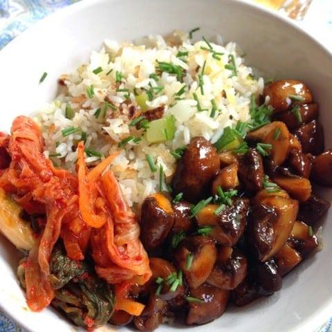 Honey Sriracha Mushroom Bowl ChaCha's Gluten-Free Kitchen