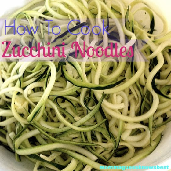 How to Cook Zucchini Noodles Momma Guess Knows Best