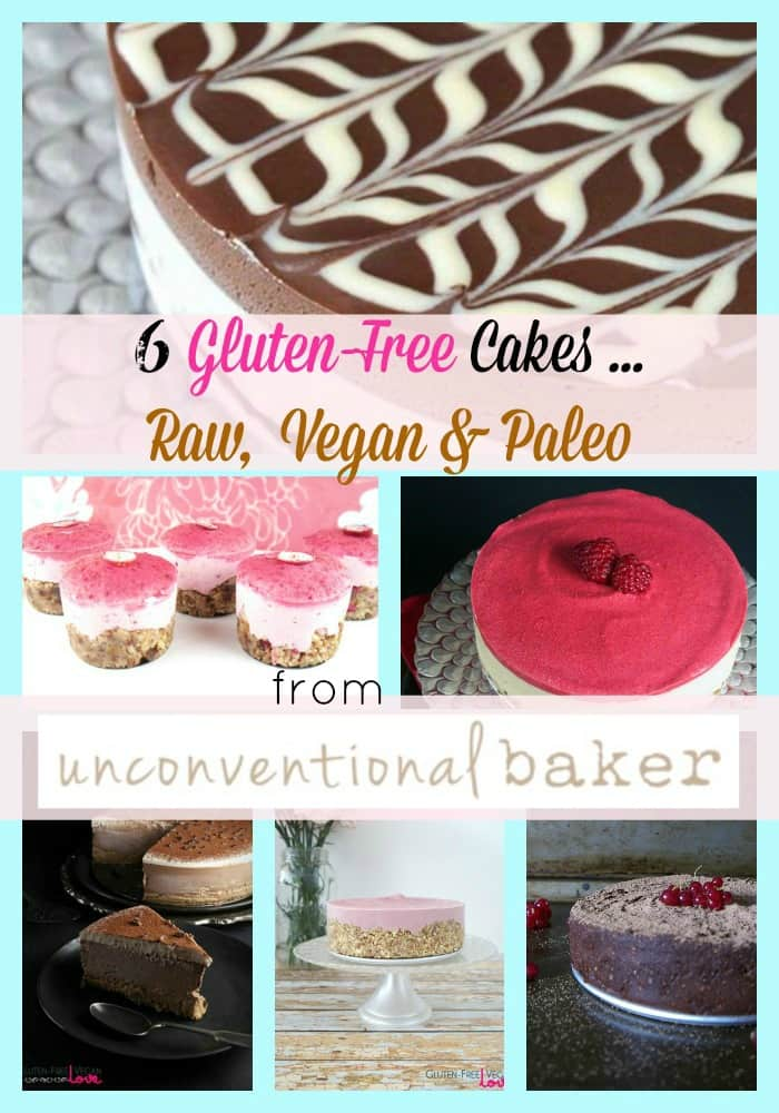 Every now and then you find a gluten-free blog that just blows you away with its creative and beyond amazing recipes. Unconventional Baker is one of those sites. Check out this small sampling of her Raw, Gluten-Free, Vegan, and Paleo Cakes!