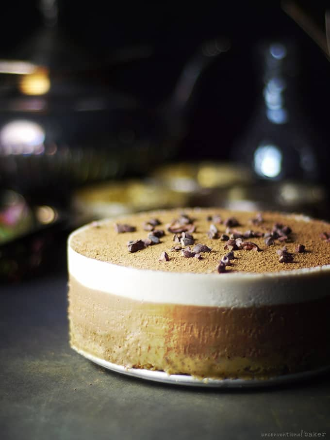 Gluten-free Tiramisu is a fabulous thing! But, surprised, this rave-worthy cake from Unconventional Baker is also raw, vegan, and paleo.