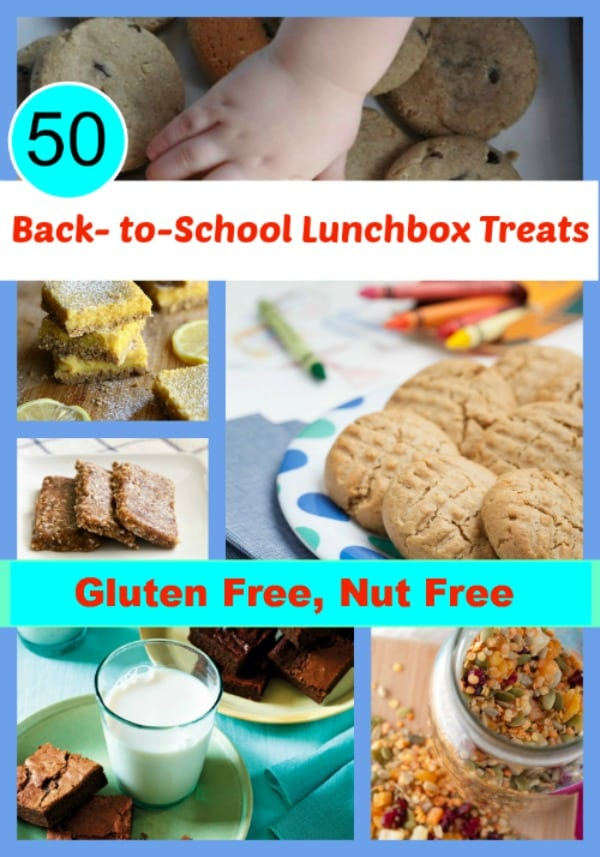 When you need some school lunch inspiration, check out these 50 Gluten-Free Nut-Free Lunchbox Treats! [featured on GlutenFreeEasily.com] (photo)