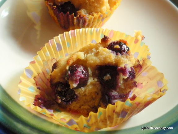 Gluten-Free Nut-Free Coconut Blueberry Pound Cupcakes from Gluten Free Easily