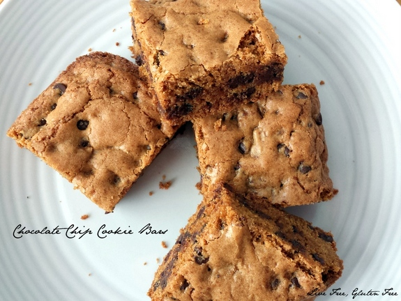 Chocolate Chip Cookie Bars Live Free Gluten Free