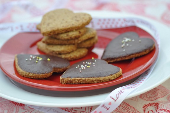 Gluten-Free Nut-Free Oatmeal Heart Cookies from Nourishing Meals