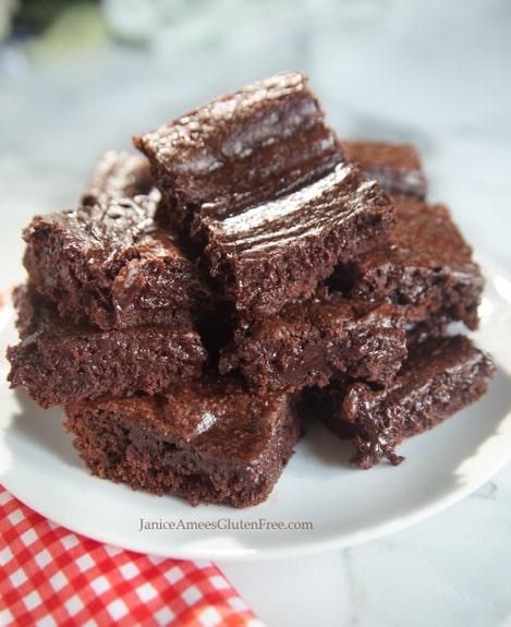 Gluten-Free Ooey Gooey Brownies Janice Amee's Gluten Free