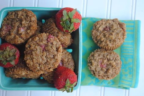 Gluten-Free Strawberry Oatmeal Muffins.
