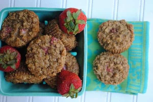 "Gluten-Free Strawberry Oatmeal Muffins. Maggie says: ""I have always been a muffin lover. But there's something special about this muffin – I think it's the combo of strawberries, coconut oil, and almond flour – they taste like Strawberry Pie! Yes, you need to bake these immediately."""